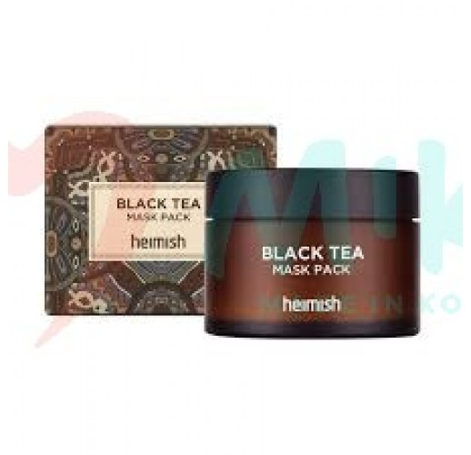Refreshing and soothing skin mask HEIMISH BLACK TEA MASK PACK, 110 ml